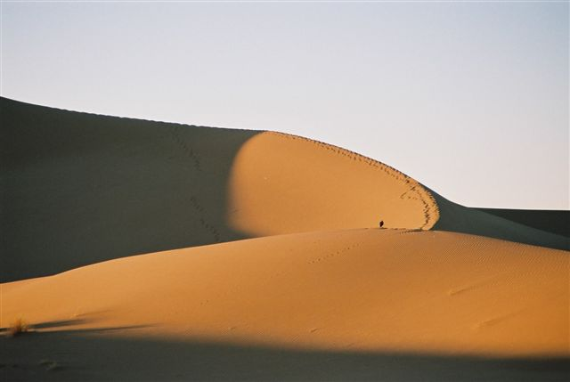 zandduinen sahara woestijn chegaga